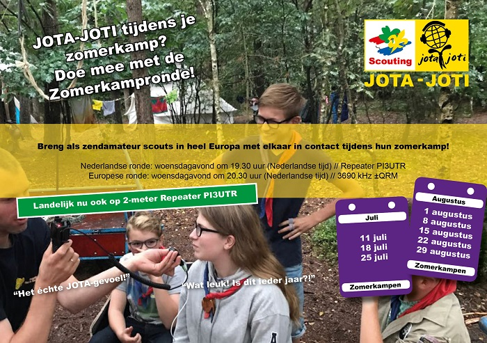 Flyer zomerkampronde zendamateurs data versie